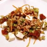 Pomodori secchi, broccolo verde, primo sale = Insalata di farro!