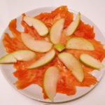 Carpaccio di salmone marinato e granny smith