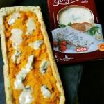Crostata con crema di carote e gorgonzola dolce Igor