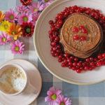 Pancake al cacao e miele
