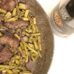 Spezzatino di vitello asparagi e Cardomagno