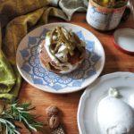 Pancake salato bufala e fagiolini