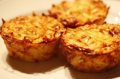 kruidige aardappelmuffins bijgerecht