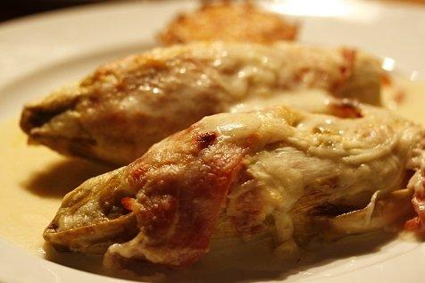 witlof uit de oven met ham en kaas
