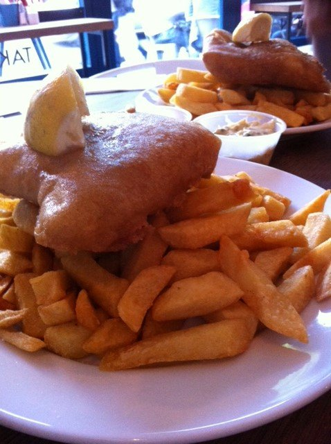 Fish and Chips in Londen Hotspot