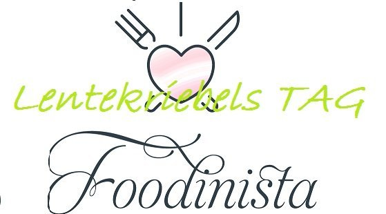 Lentekriebels tag foodblog foodinista