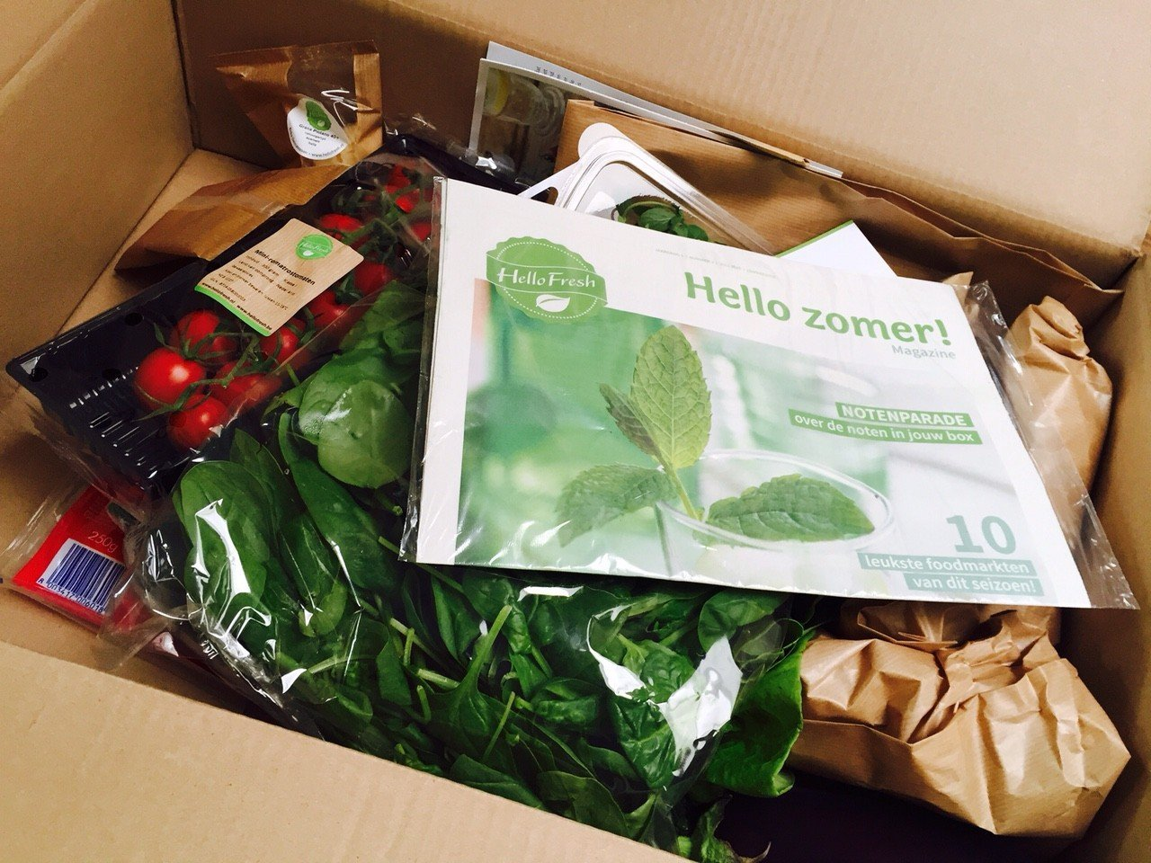 HelloFresh unboxed maaltijdbox inhoud foodblog Foodinista