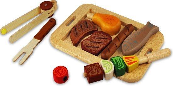 Houten barbecueset speelgoed Sinterklaas cadeau tip Foodblog Foodinista loves kids