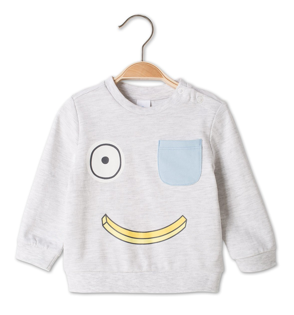 Smile bananen sweater mini foodies sweater favorieten foodblog Foodinista lentekleding voor mini foodies