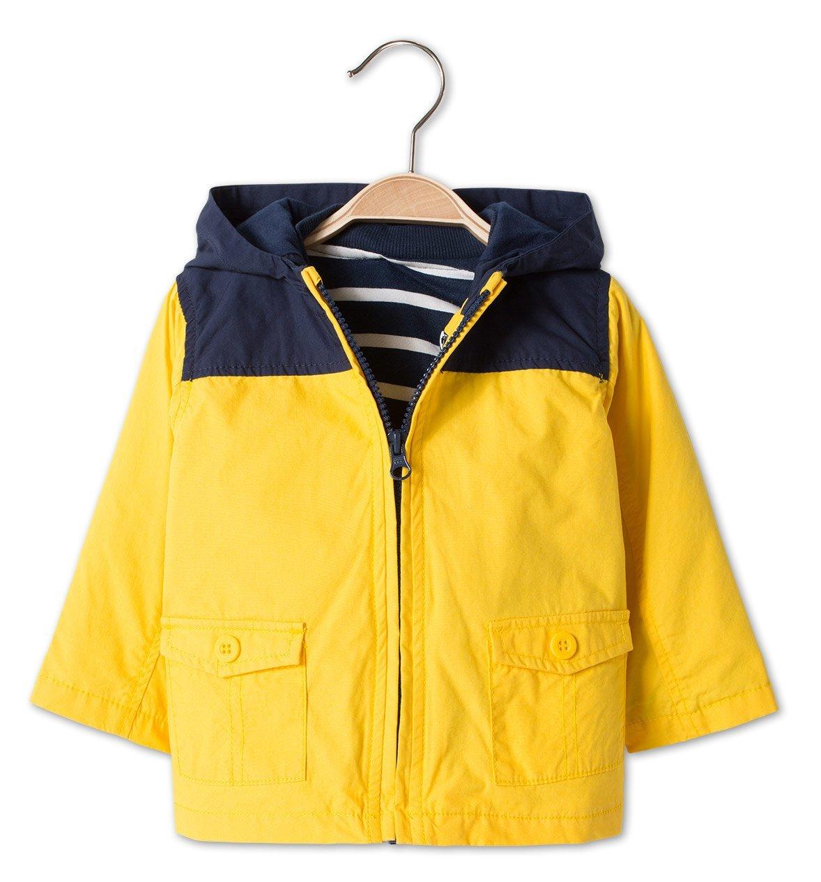 Lentekleding voor mijn dreumes lentejas voor baby en peuter blau geel zeiljasje budgetkleding favorieten lentekleding