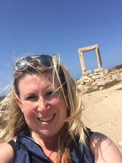 Poort van Apostolis Naxos Cycladen Griekenland