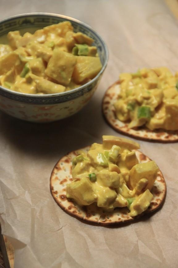 Recept voor frisse kip kerrie salade foodblog Foodinista