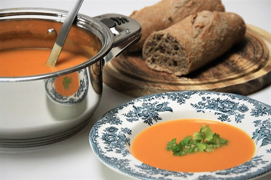 Pompoen zoete aardappel soep recept van Foodblog Foodinista