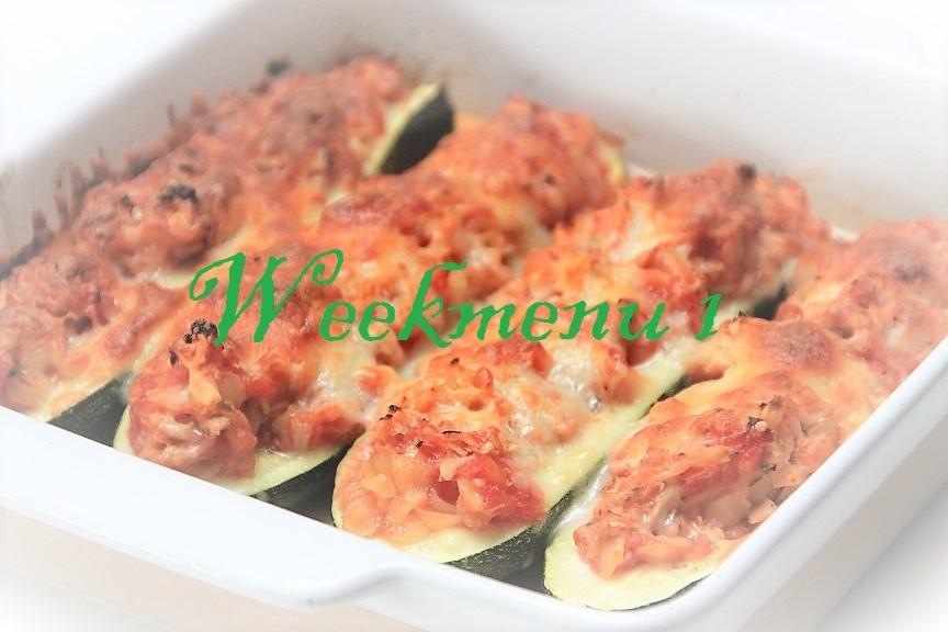 Gevarieerd en makkelijk Weekmenu 1 Gevulde courgette met tonijn van Foodblog Foodinista