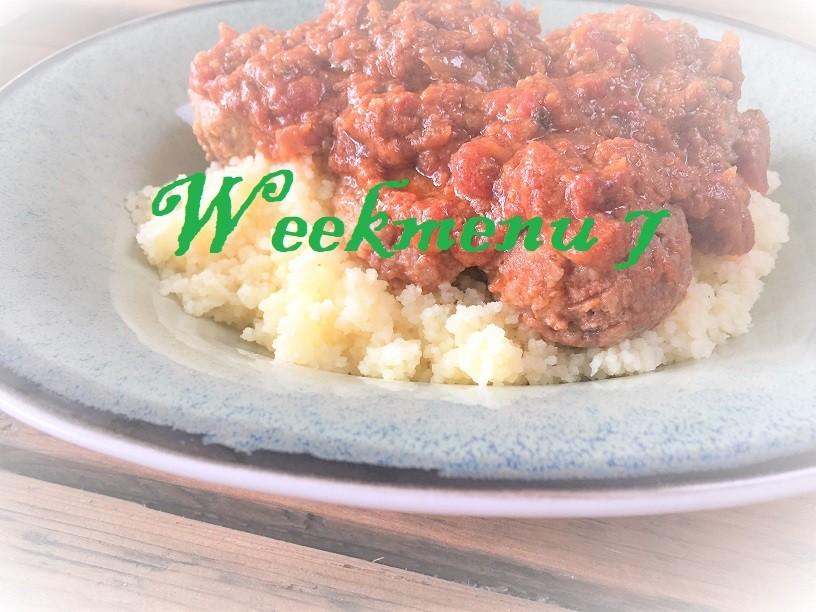 Gevarieerd en makkelijk weekmenu week 7 Griekse gehaktballetjes met feta in tomatensaus