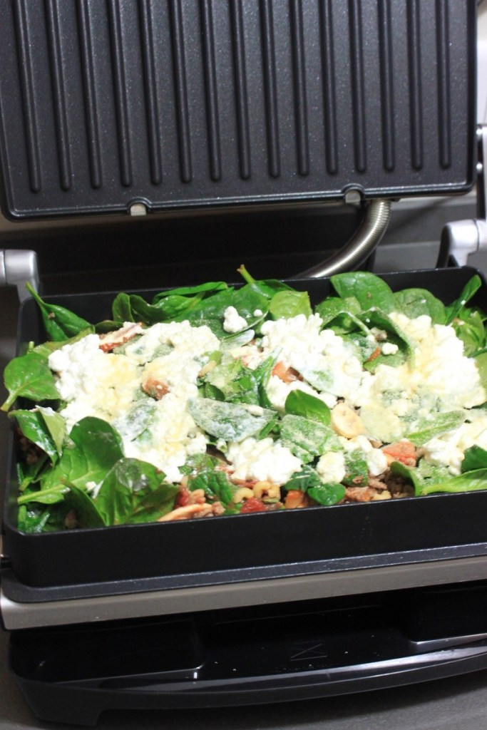 Gezonde pastaschotel met spinazie in de George Foreman Grill recept van Foodblog Foodinista