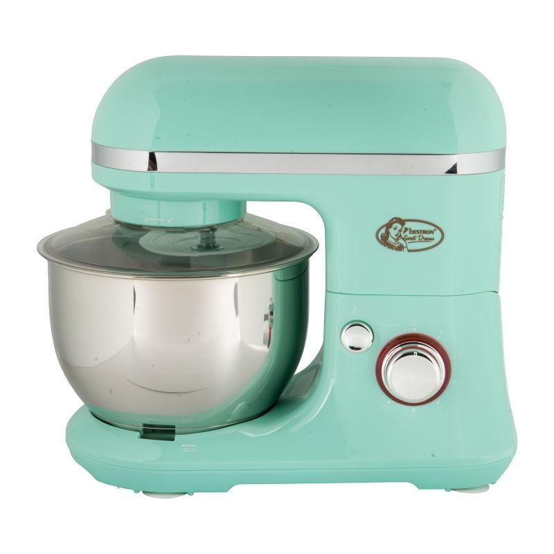 Vrolijke Moederdag cadeautjes tips Mintgroene keukenmachine  van Foodblog Foodinista