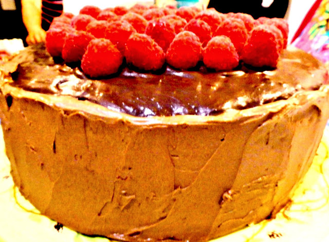 Chocolate Chocolate Raspberry Cake2