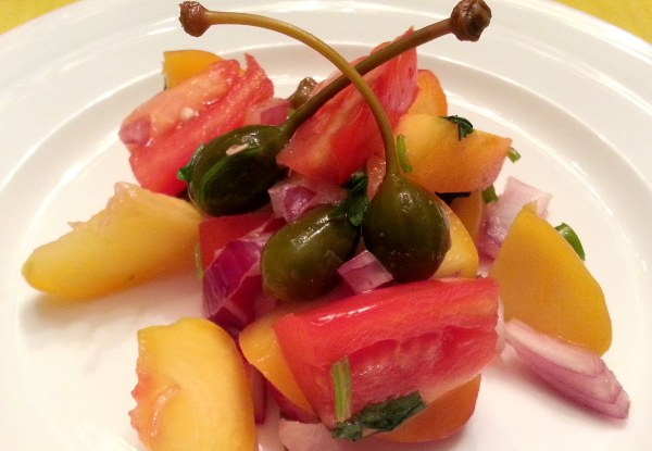 Peach, Tomato and Caper Salsa