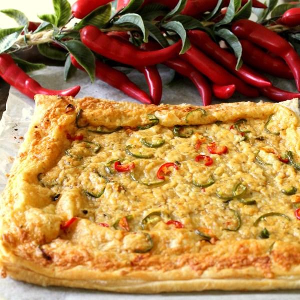 Puff Pastry Chili Cheese Pizza3