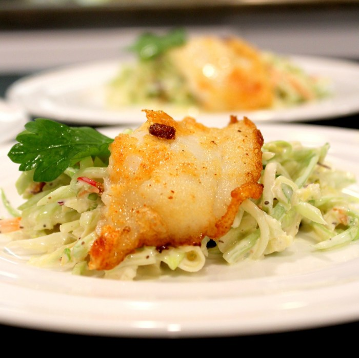 Pan Fried Sole and Cole Slaw1a