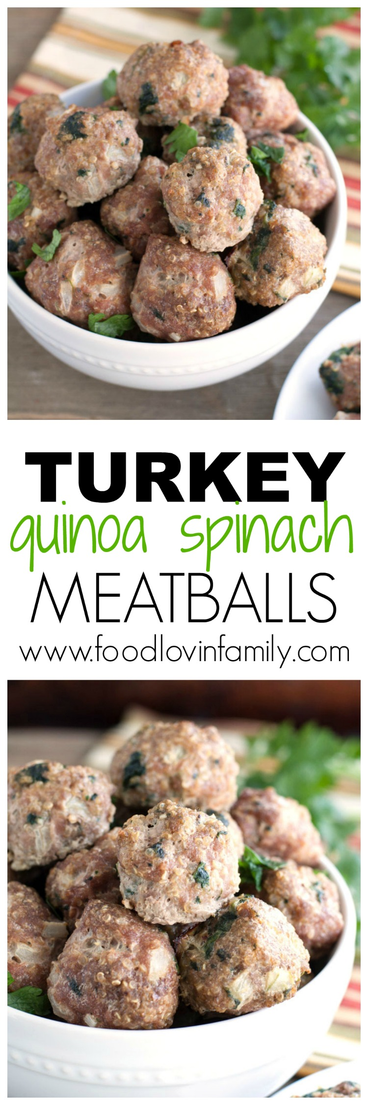 Turkey Quinoa Spinach Meatballs PIN