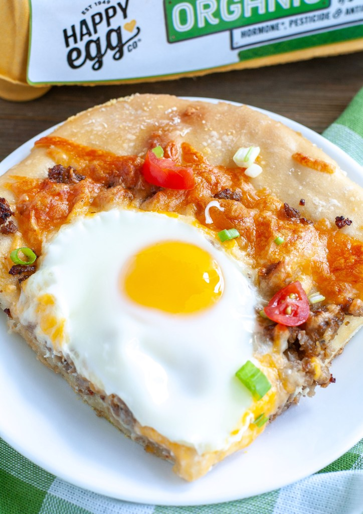 Slice of breakfast pizza