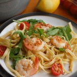 shrimp and arugala pasta