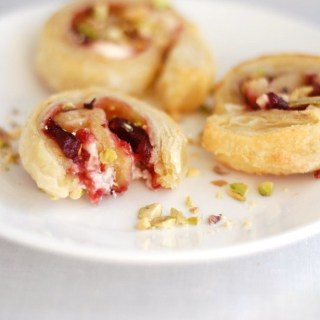 Cranberry and cream cheese pinwheels