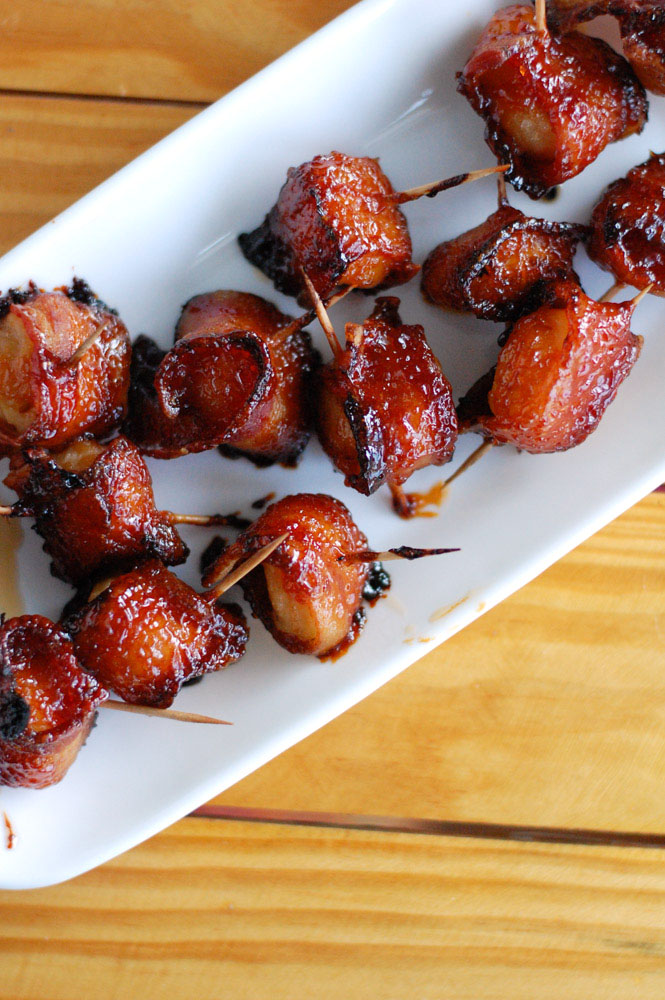 Bacon wrapped water chestnuts