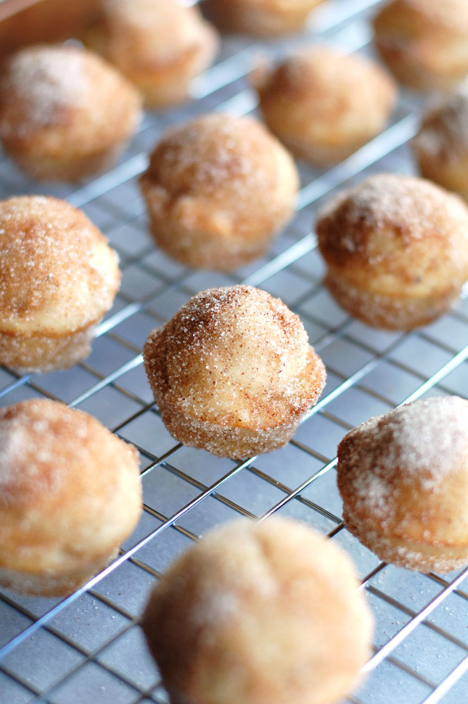 banana donut holes on a wire cooling rack