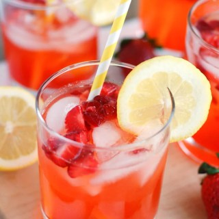 Strawberry Lemonade - The BEST strawberry lemonade. Made with fresh lemon juice and strawberries, everyone will love this recipe!