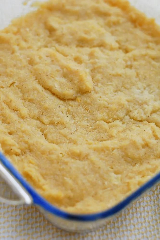 Copycat Chi-Chi's Sweet Corn Cake in a baking dish