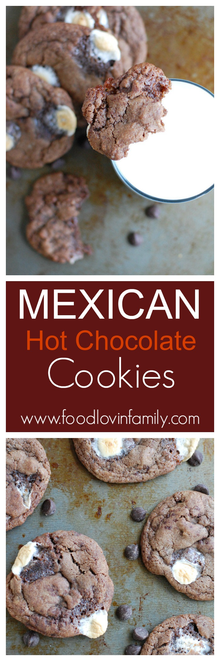 Mexican Hot Chocolate cookies are the perfect mix of cinnamon, chocolate, and a touch of spice.