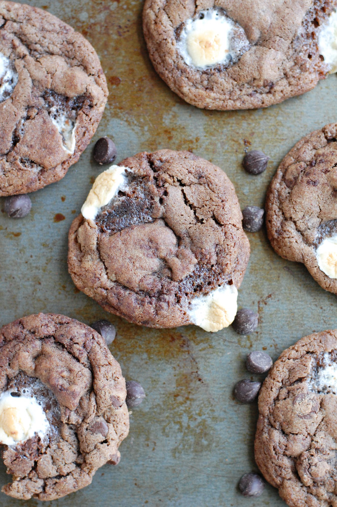 Mexican Hot Chocolate cookies on a pan