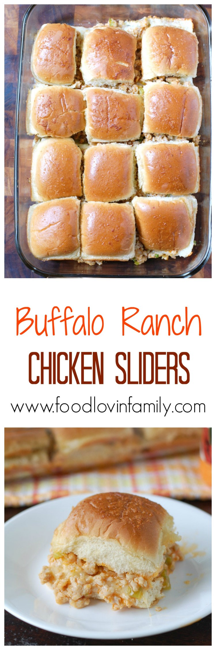 Buffalo Ranch Chicken Sliders are made with ground chicken, celery, onion and creamy ranch buffalo wing sauce.The perfect tailgating or party food.