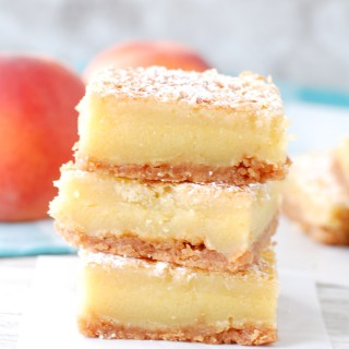 Peach Nectar Custard Bars