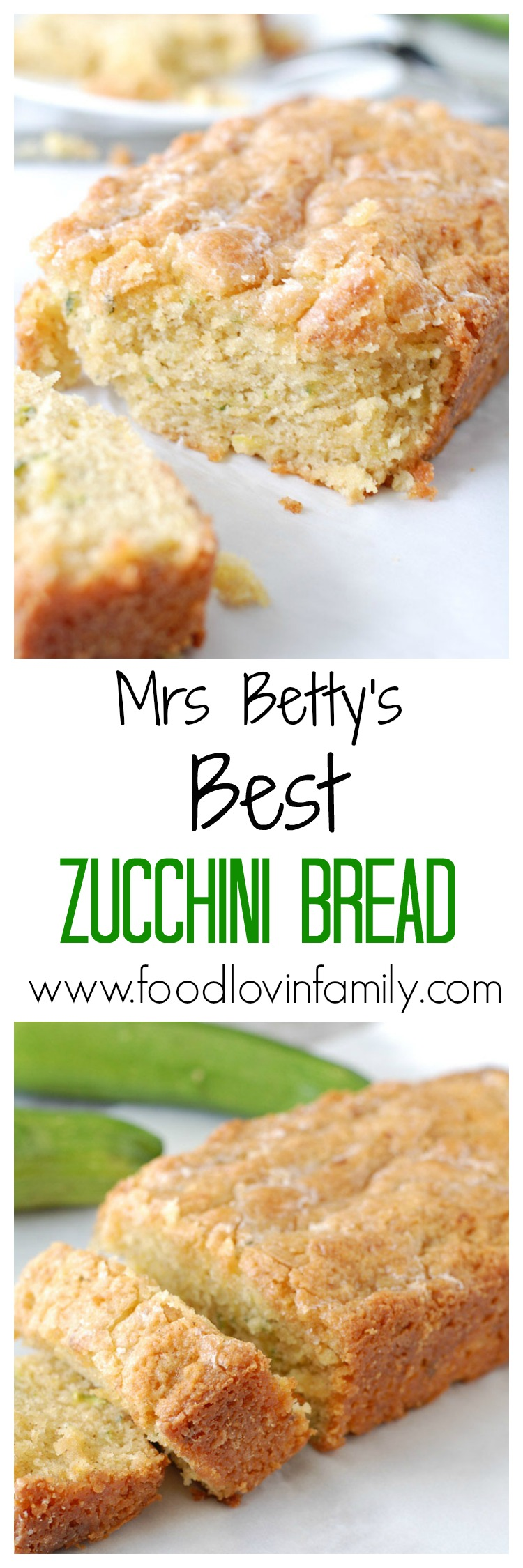 THE BEST and easy zucchini bread full of spices and a secret ingredient. This will be your go to zucchini bread recipe.