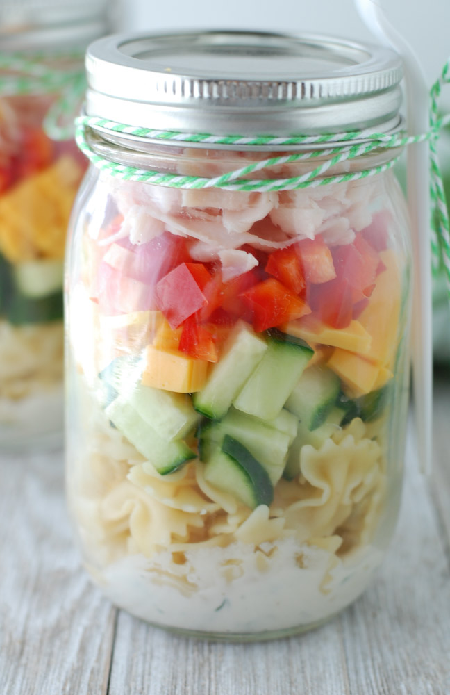 Mason Jar Pasta Salad Shakers Food Lovin Family