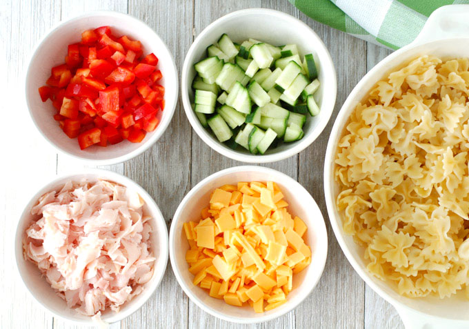 pasta salad ingredients