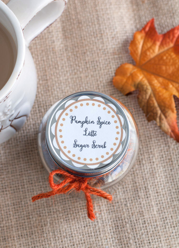 Celebrate the magic of Fall by treating yourself or a friend to pumpkin spice latte sugar scrub.