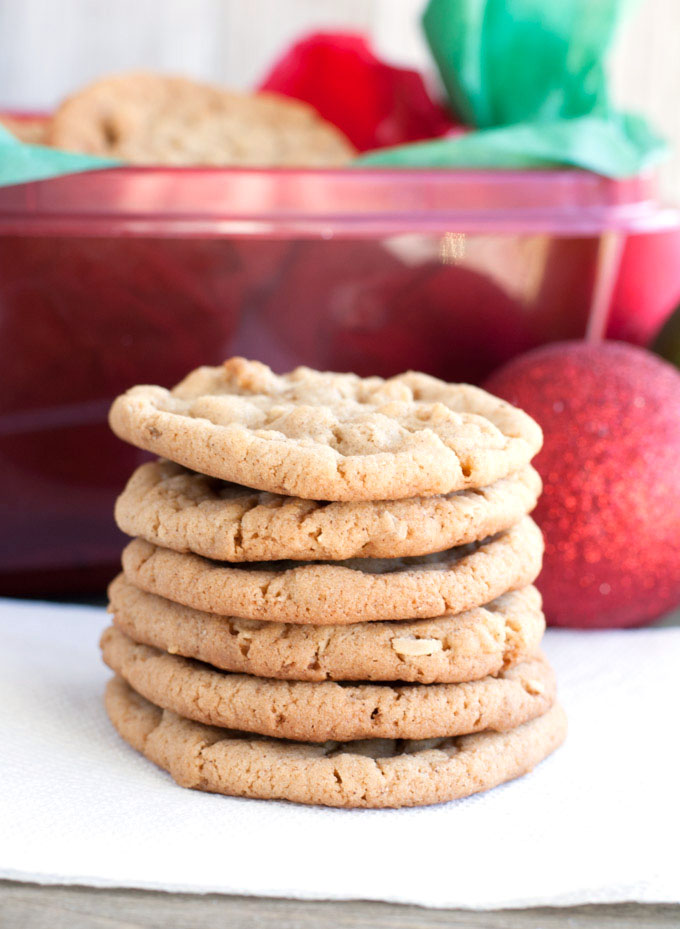 Chewy Cinnamon Oatmeal Cookies stacked