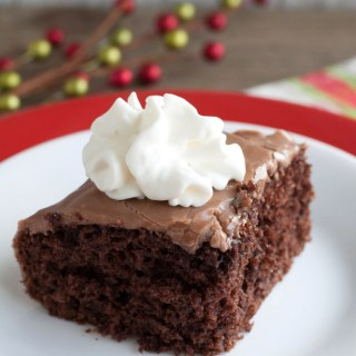 Hot Chocolate Poke Cake
