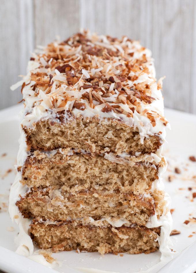 Layered Coconut Spice Cake - Food Lovin Family
