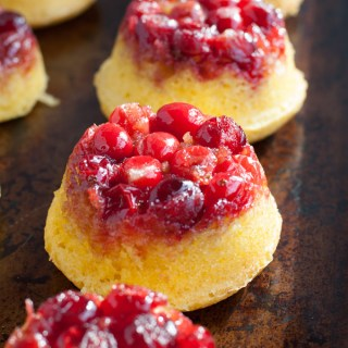 Mini Cranberry Orange Upside Down Cakes