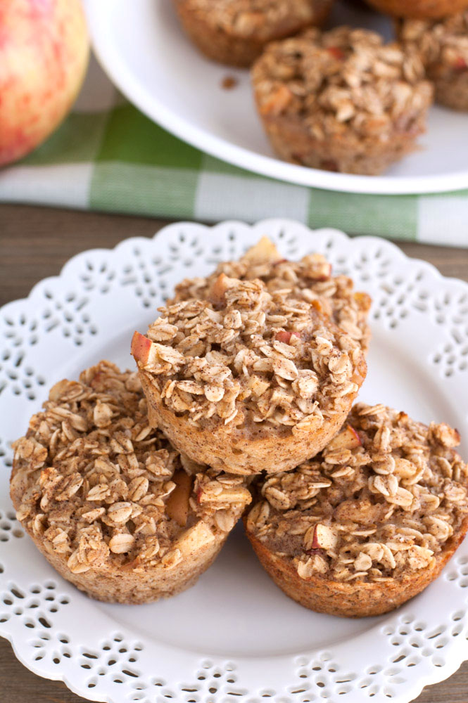 Using Truvia® Natural Sweetener and no flour, these apple cinnamon baked oatmeal cups are a great option for on the go breakfast.