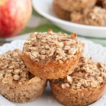 Oatmeal muffins on a plate.