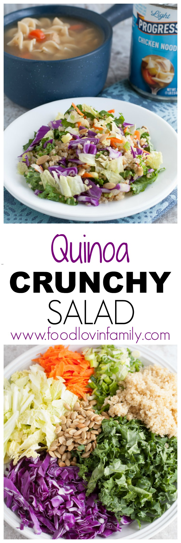 Salad with lettuce and quinoa on a plate.