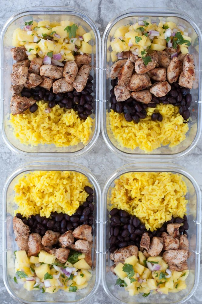 jerk chicken meal prep bowls
