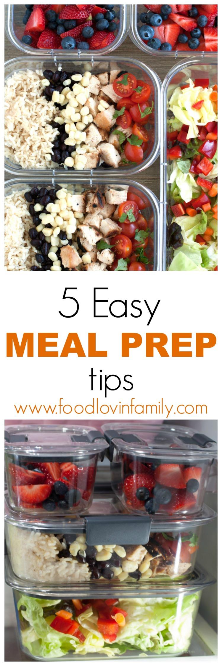 5 easy meal prep tips